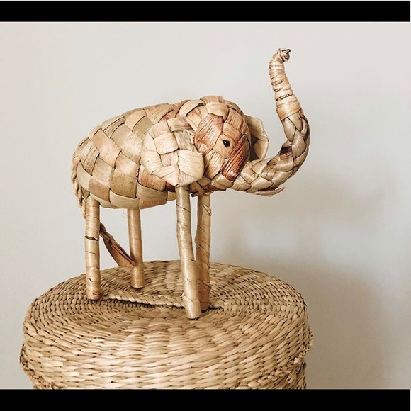 Other - Small woven elephant